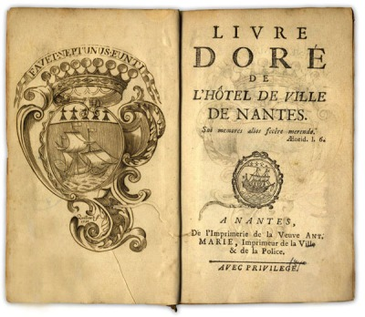 """""""Livre doré"""", page de titre de l'édition de 1750"""