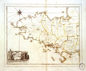 carte de Bretagne, vers 1756