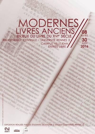 """Affiche de l'exposition """"Modernes livres anciens""""."""
