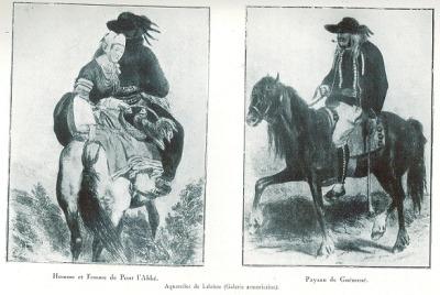 Paysans à cheval
