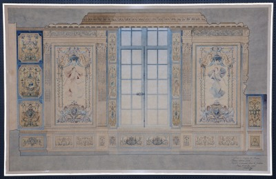 Première chambre civile du Parlement de Bretagne. – Projet de tapisserie pour les Gobelins. 1896. Archives départementales 35. (49 Fi 47)