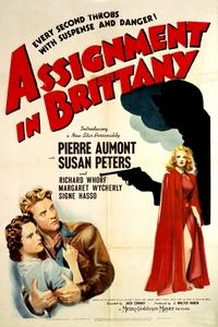 """Affiche du film """"Assignment in Brittany"""", tiré de """"Rendez-vous en Bretagne"""", Presses de la Cité, 1956. D.R."""