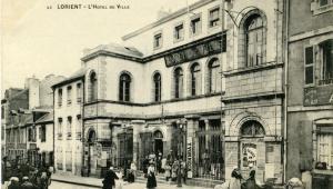 Vue de l'Hôtel de Ville de Lorient