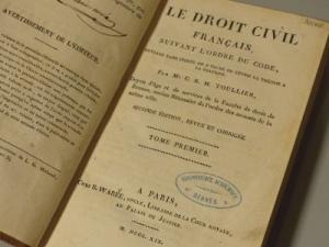 Toullier C. Le droit civil français (B. Warée, 1819-1831). © SCD Rennes 1
