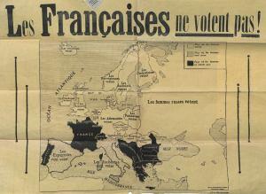 Affiche vote des Françaises. [entre 1930 et 1932]. AA16. Domaine public.