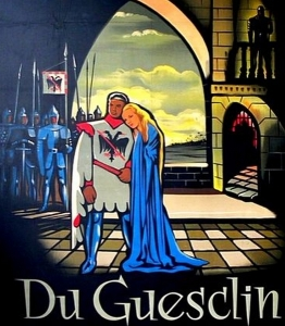 Affiche du film Du Guesclin (réalisé par Bernard de Latour, 1949), lithographie de Jean Jacquelin, 120 x 160 cm