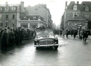 Visite officielle du général De Gaulle à Rennes, 31 janvier 1969. Archives de Rennes, 350Fi273
