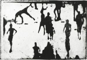 Lithographie tirée de l'ouvrage 'Casablanca' de Philippe Cognée