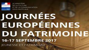 affiche des Journées européennes du patrimoine 2017