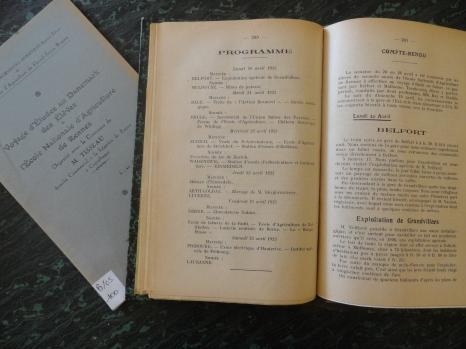 Voyage d'études ENAR - Suisse - 1925