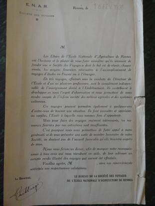 Société des Voyages d'études ENAR - 1935