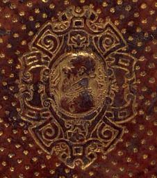 Bibliothèque Rennes Métropole. 882 rés. Détail reliure. Olofarne