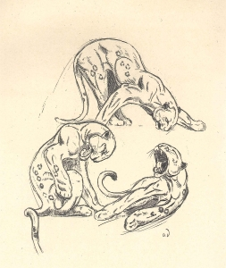 Leconte de Lisle. Les poèmes barbares. 26 eaux-fortes originales dessinées et gravées par Odette Denis. Paris : Le Livre de Plantin, 1948 (cote : Res. M 307)