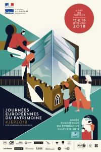 Visuel générique affiche Journées européennes du patrimoine 2018