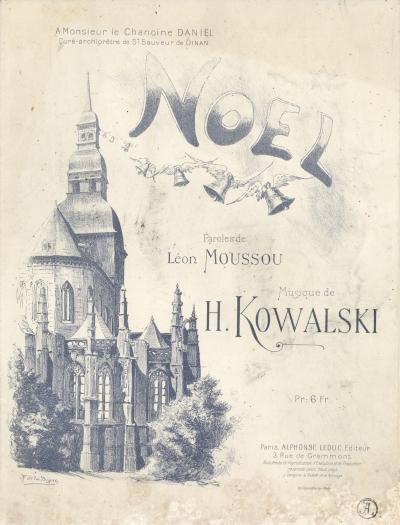 BM Dinan_Henri Kowalski, Noël oeuvre pour chant et piano, 1903