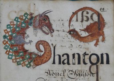 BM Dinan_Recueil de chant de Noël, 1662 (folio 44)
