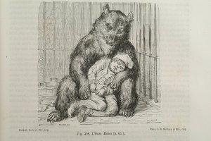 L'Ours Masco. Gravure sur bois de Born d'après Trignon
