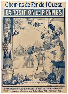 Affiche exposition Rennes 1897 par Prud'homme Paul 1897. Collections musée de Bretagne et écomusée du Pays de Rennes