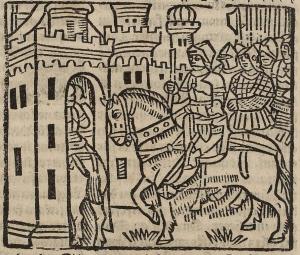 Entrée des soldats dans le château, 1536 [gravure sur papier]