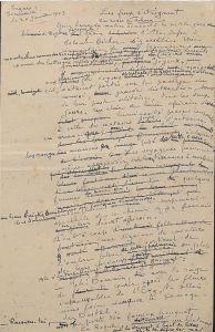 Page de manuscrit de Charles Géniaux. Bibliothèque Rennes Métropole.