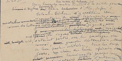 Extrait de manuscrit de Charles Géniaux. Bibliothèque de Rennes Métropole.