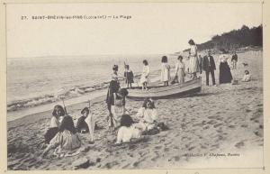 - Saint-Brévin-les-Pins, La plage. Nantes : F. Chapeau, 1900. Bibliothèque municipale de Nantes