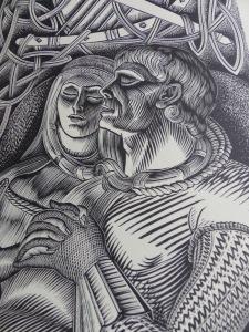 4°2410 Tristan et Yseut / illustré par Jean CHIEZE, gravure sur bois.