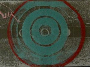 """""""L'image du monde selon moi"""" M. Seguin, lithographie sur plaque de verre"""