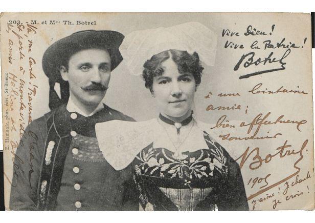 Carte postale 203 - M. et Mme Th. Botrel/1